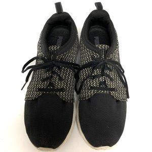 PUMA Black & White Athletic Shoe